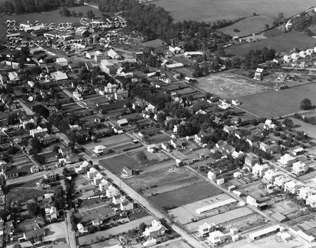Aerial photo of Front Royal, circa 1930.  Photo taken by Robinson Studio.