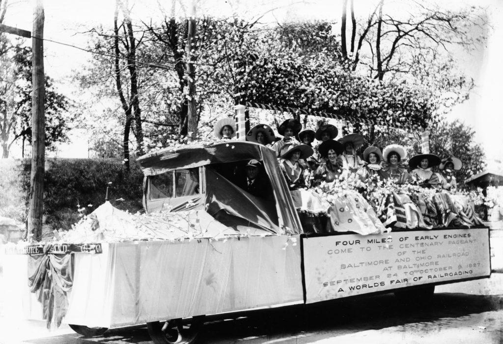Baltimore & Ohio Railroad float, Front Royal, circa 1927.