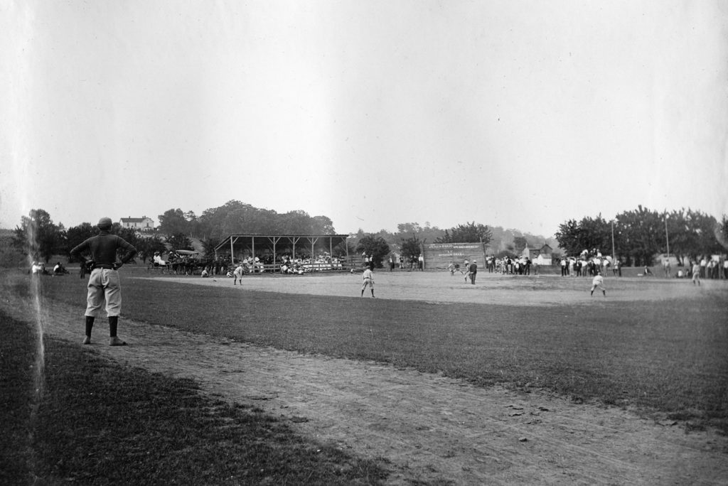 Baseball game at the corner of Virginia Avenue and Kendrick Lane, Front Royal, circa 1919.