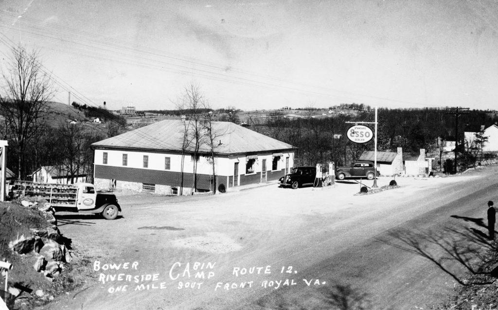 Bower riverside cabin off Route 340, circa 1939.