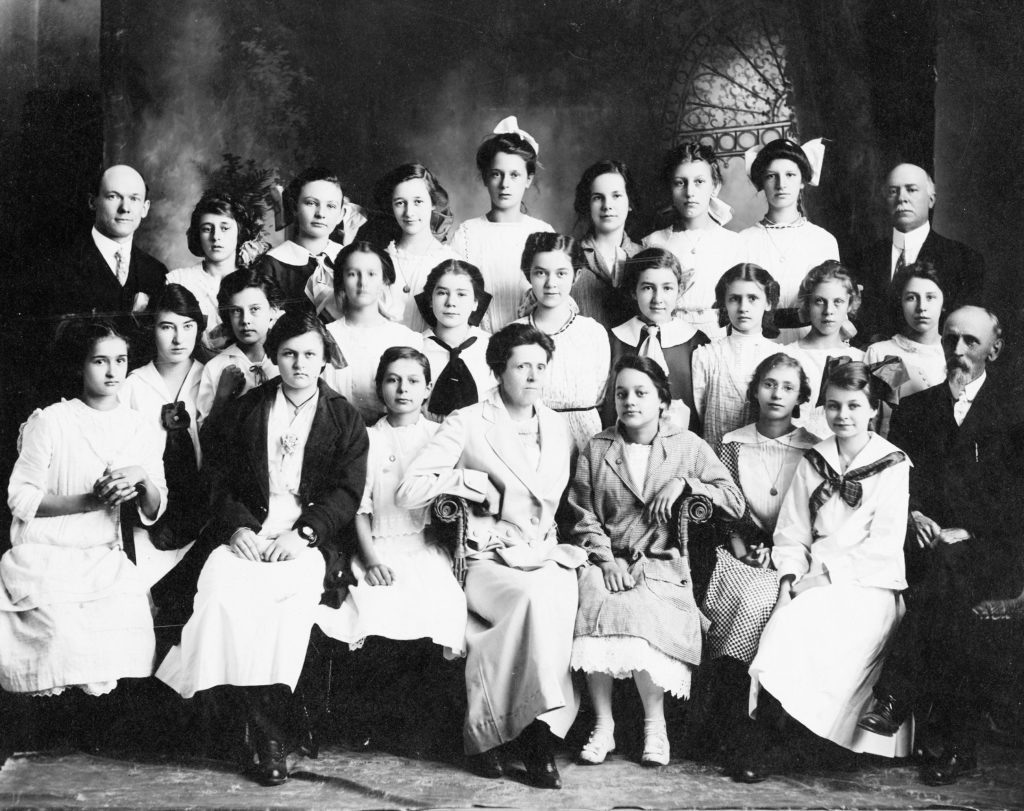 Front Royal Methodist School, Women's class, circa 1913.