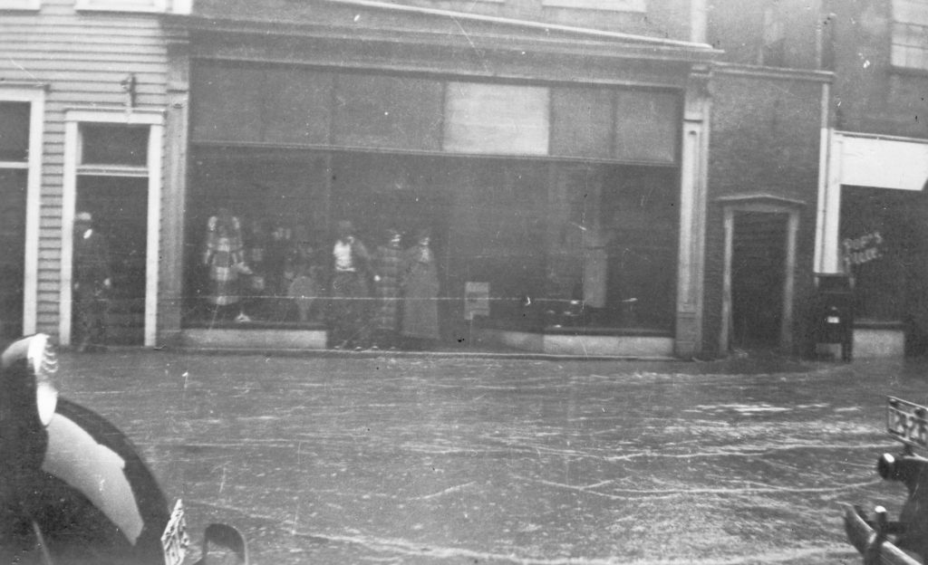 217 E. Main Street during the flood on 1936.