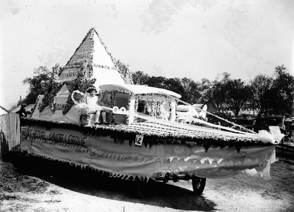 Front Royal Junior League  parade float, Front Royal, circa 1927.