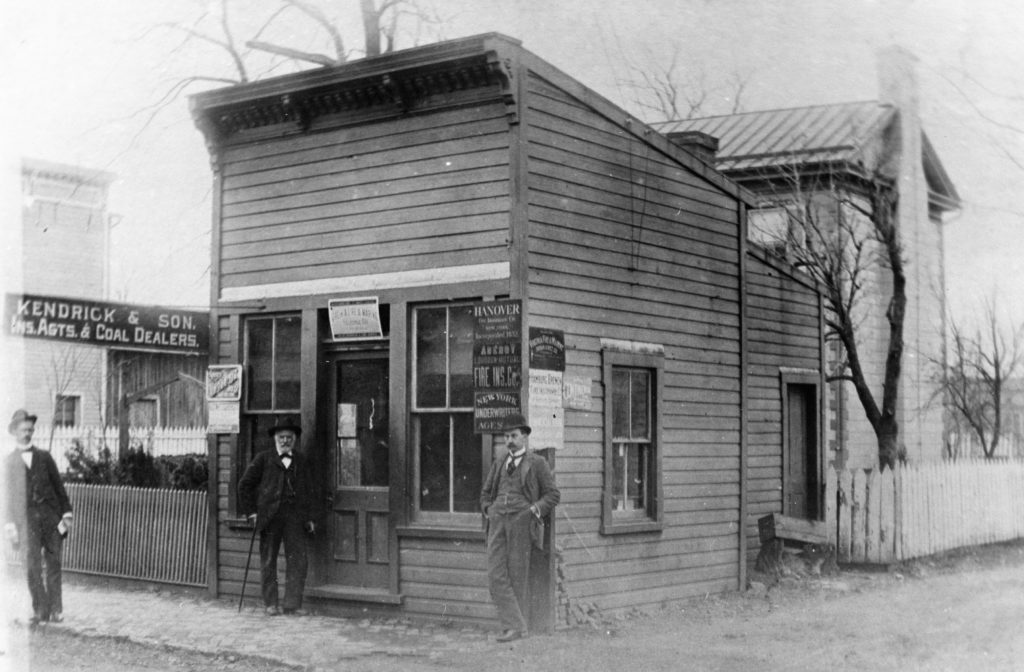Kendrick & Son, later known as W.J. Kendrick and Company, was established around 1880 by Confederate veteran James Way Kendrick and was the first general insurance agency in Front Royal.  The offices were replaced on Main Street by the Park Theater.