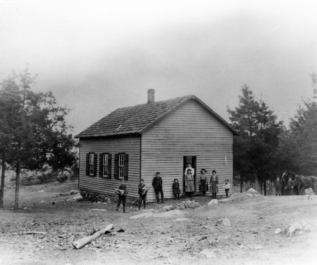 Nineveh School, Warren County, circa 1912.