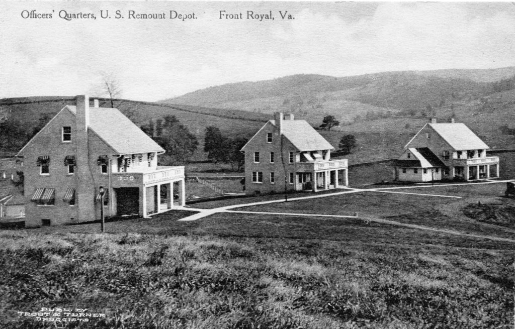 Officers' Quarters, U.S. Remount Depot, Front Royal, circa 1919.