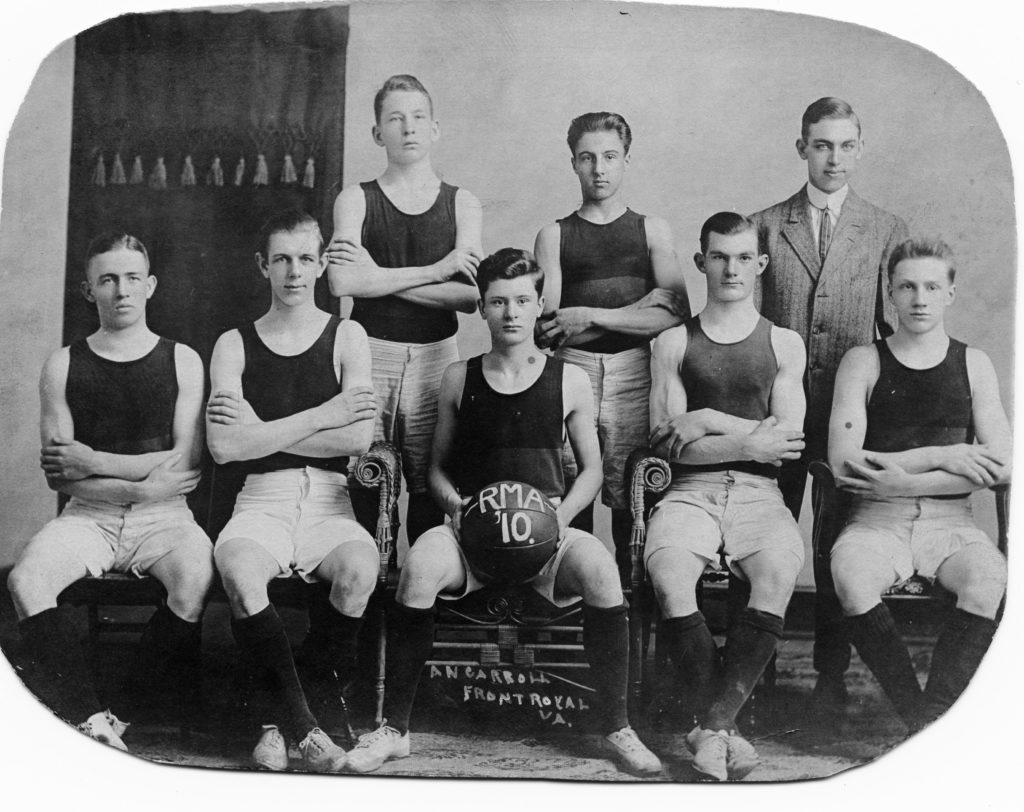 Randolph-Macon Academy Basketball, 1910.