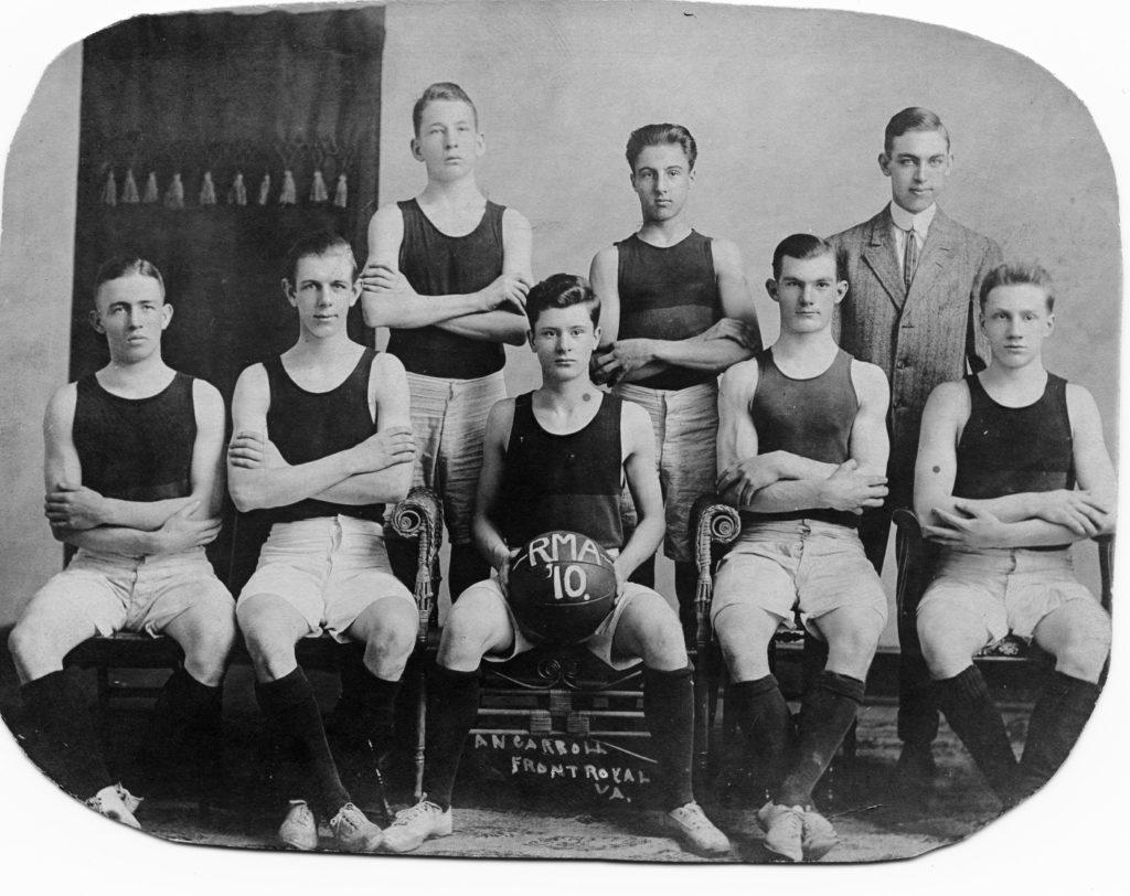 Randolph-Macon Academy Basketball, 1910.
