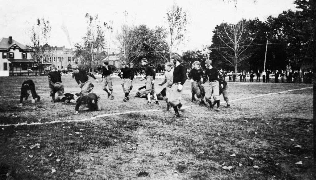Randolph-Macon Academy football game, circa 1911.