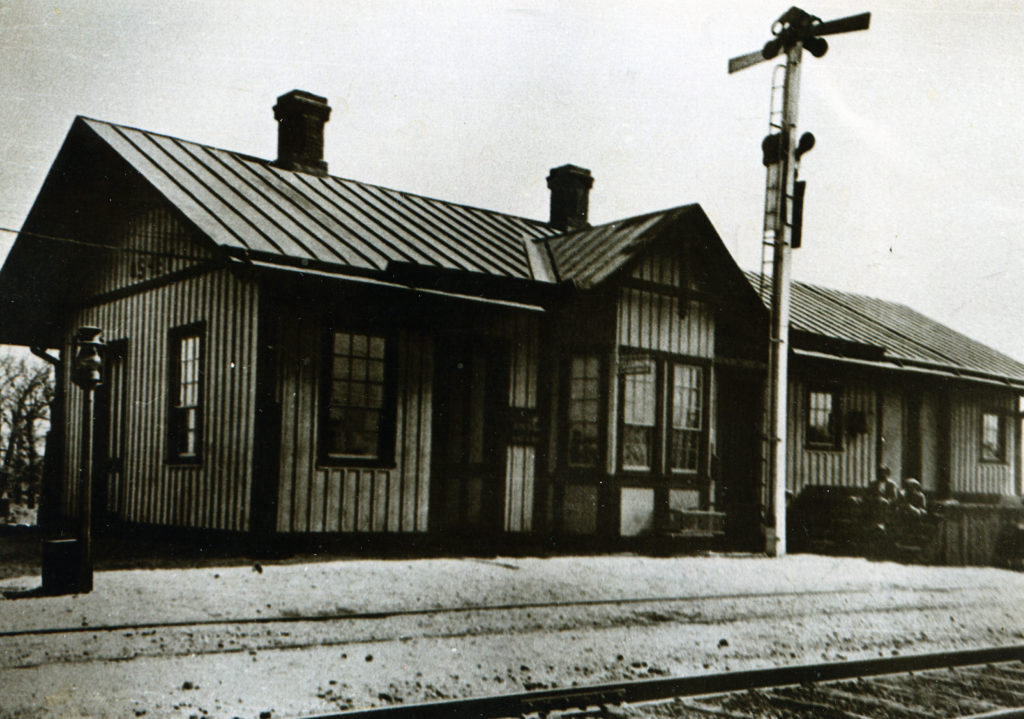 Ashby Train Station, circa 1933.