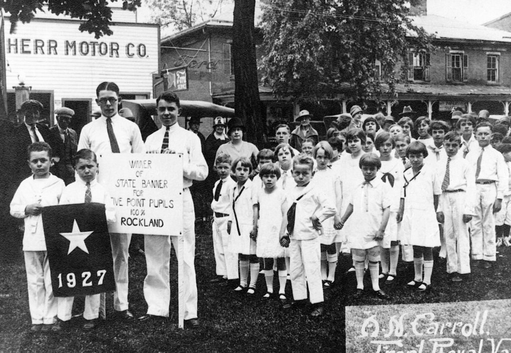 Rockland School Five Pointers, Front Royal, circa 1927.